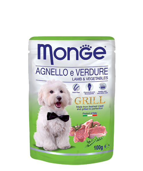 Monge Grill Pouch Lamb and Veget 100гр. х 12 шт. - фото 1