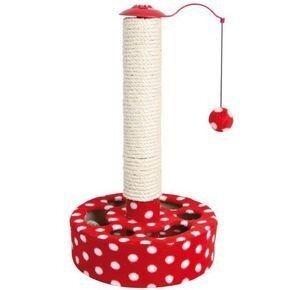 Когтеточка Trixie Когтеточка в виде столбика «Play Post»,45 cм, красно-белая - фото 1