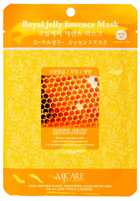Mijin Маска тканевая маточное молочко Royal Jelly Essence Mask 23гр - фото 1
