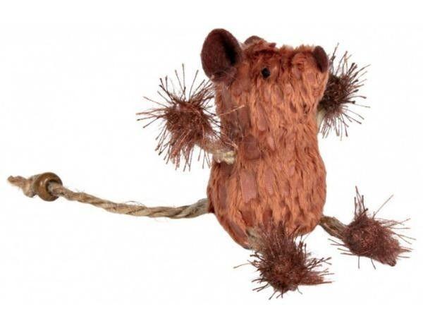 Trixie Игрушка «Мышь с бусинкой» 8 см - фото 1