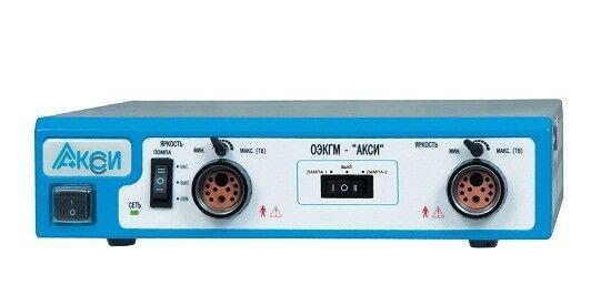 Медицинское оборудование Аксиома Осветитель эндоскопический АКСИ с ксеноновым и галогеновым светом, тип 8 - фото 1