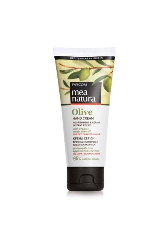 Farcom Крем Mea Natura Olive с оливковым маслом питательный восстанавливающий для сухой кожи рук 100 мл - фото 1