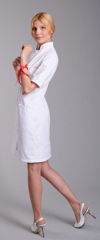 Доктор Стиль Халат медицинский женский Каприз (лу1123) - фото 3