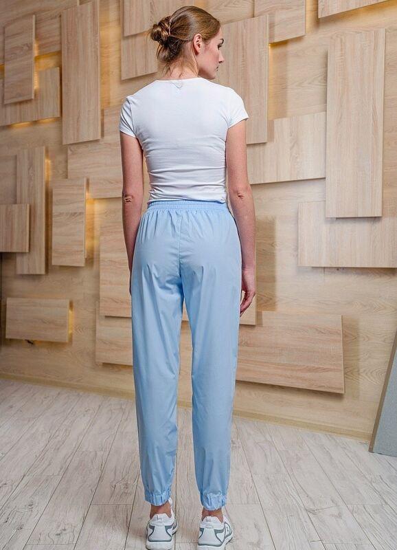Доктор Стиль Медицинские брюки женские «Релакс» голубые Брю 3403.06 - фото 2