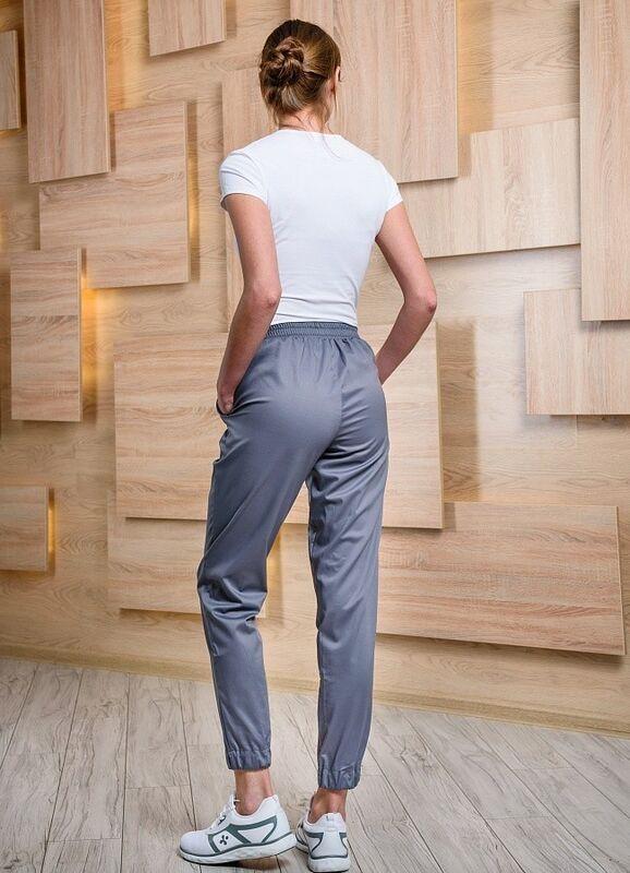 Доктор Стиль Медицинские брюки женские «Релакс» графит Брю 3403.20 - фото 2