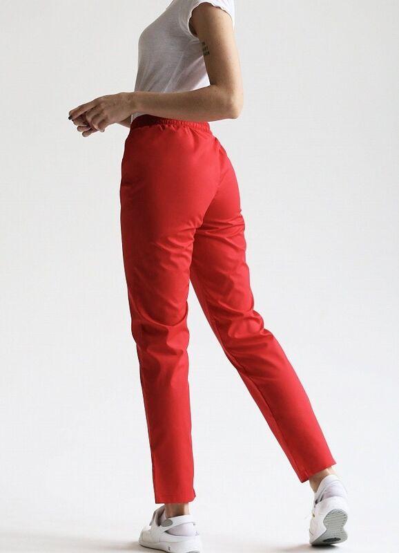 Доктор Стиль Медицинские брюки женские «Комфорт» красные Брю 3401.16 - фото 5