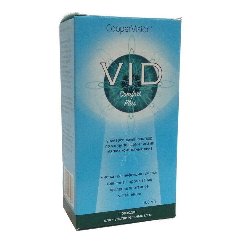 Средство по уходу и аксессуар для линз Cooper Vision Раствор Vid Comfort Plus 100 мл - фото 1