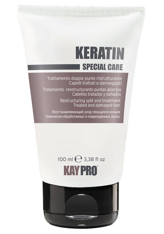 KayPro Уход CPECIAL CARE KERATIN восстанавливающий для секущихся кончиков с кератином для химически обработанных и поврежденных волос 100 мл - фото 1