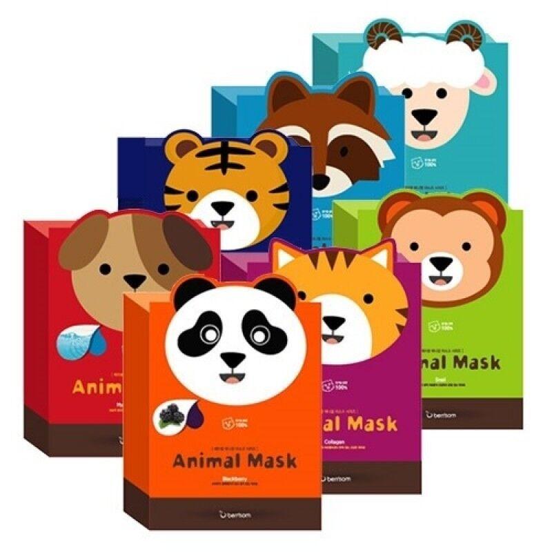 Berrissom Тканевые маски с животными Animal Mask Series - фото 1