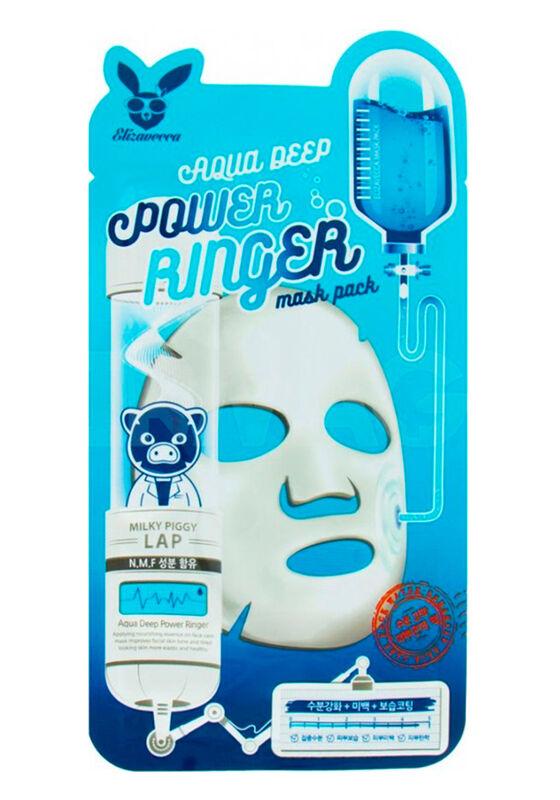 Elizavecca Маска тканевая для лица Увлажняющая AQUA DEEP POWER Ringer mask pack, 1шт - фото 1