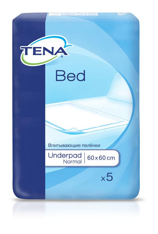 Tena Простыни (пеленки) впитывающие Bed Normal 60х60 см, 5 шт. - фото 1