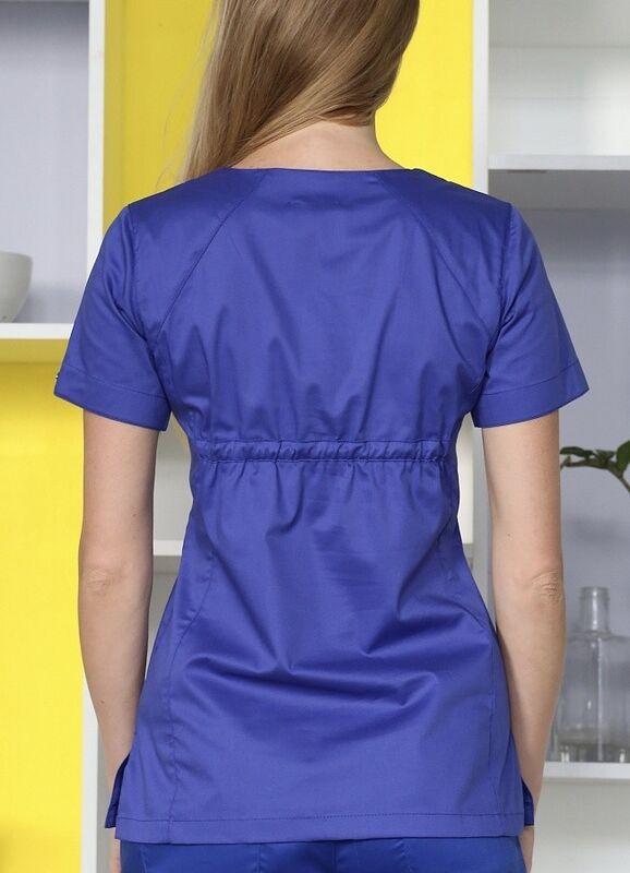 Доктор Стиль Медицинская блуза «Колибри» василек ЛЛ 2232.05 - фото 2