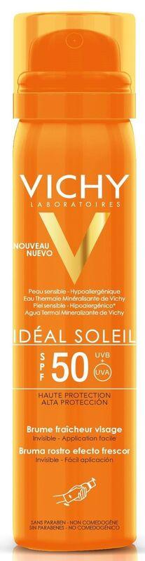 Vichy Cпрей для загара capital ideal soleil освежающий спрей-вуаль spf 50, 75 мл - фото 1