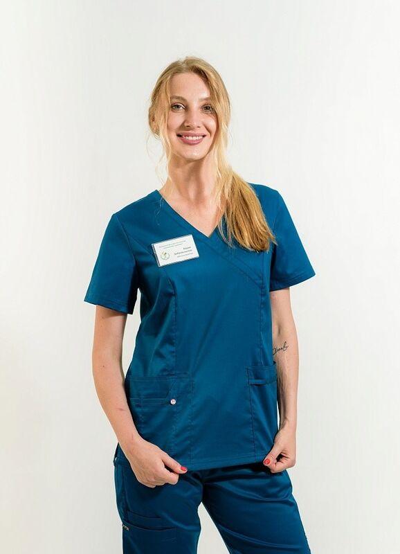 Доктор Стиль Медицинская блуза «Терра» блю опал ЛC 3229.48 - фото 1