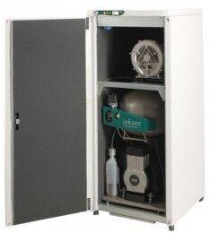 Стоматологическое оборудование Ekom Словакия Компрессор с аспирационным устройством DUO 2V/M для двух установок - фото 1