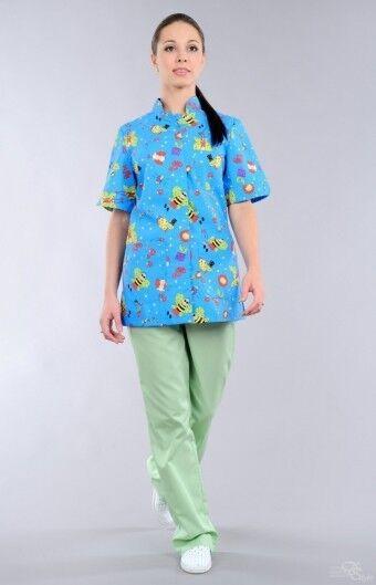 Доктор Стиль Блуза медицинская женская Педиатр (лс3231) - фото 1