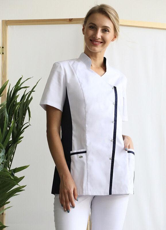 Доктор Стиль Медицинская блуза «Венеция» cиняя ЛУ 1228.29 - фото 1