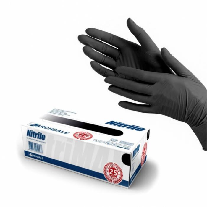 Медицинское оборудование Vogt Medical Перчатки нитриловые черные - фото 1
