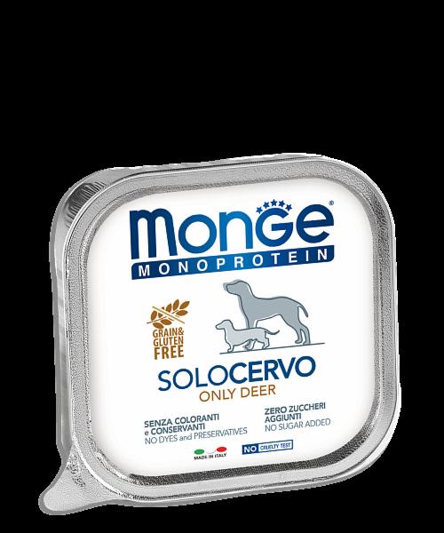 Monge Dog Solo Deer 150 гр. х 12 шт. - фото 1