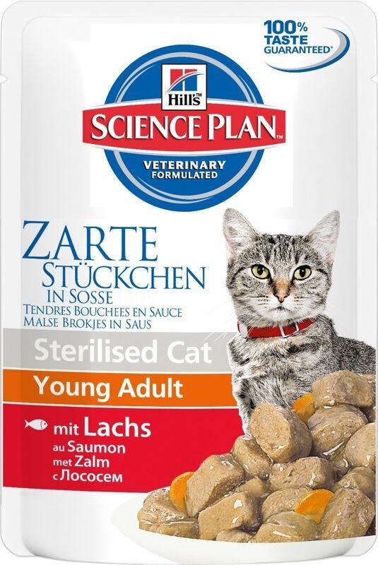 Hill's SP Feline Young Adult Sterilised Cat Salmon 85 гр. х 12 шт. - фото 1