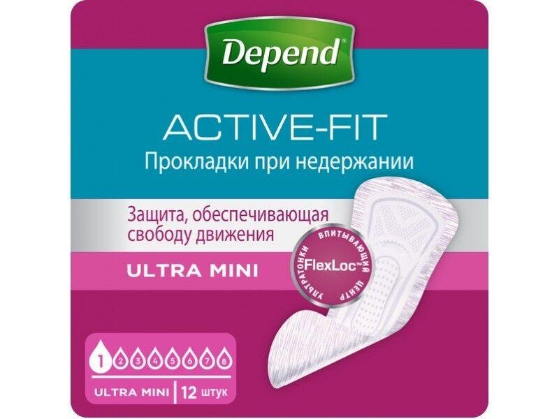 Depend Прокладки Ultra Mini для женщин, 12 шт - фото 1