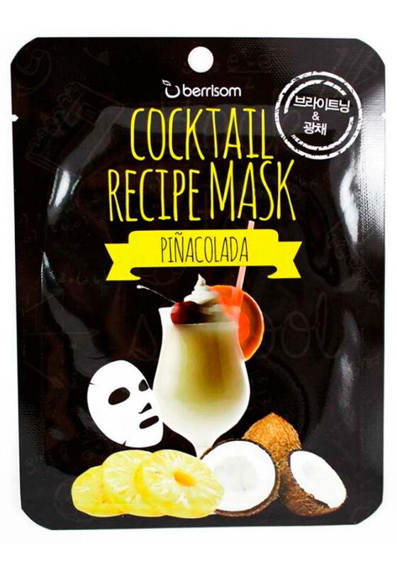 Berrissom Маска для лица Cocktail Recipe Mask - Pina Colada 20гр - фото 1