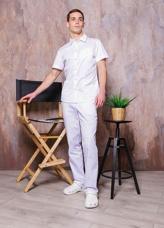 Доктор Стиль Медицинская блуза «Терапи» белая ЛС 3217.01 - фото 4