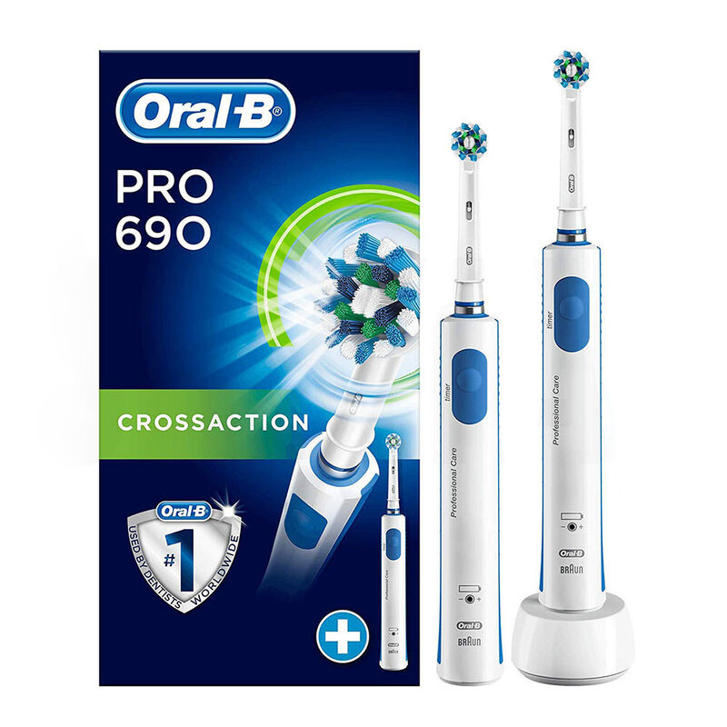 Oral-B Электрические зубные щётки Pro 690 CrossAction D16.524Н (2 шт.) - фото 1