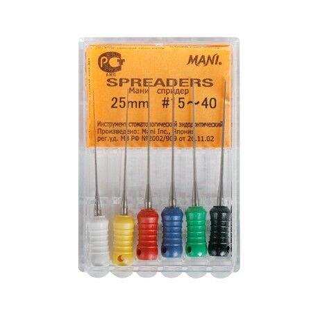 Стоматологическое оборудование Mani Inc. Спредеры (6шт) эндодонтический инструментарий - фото 1