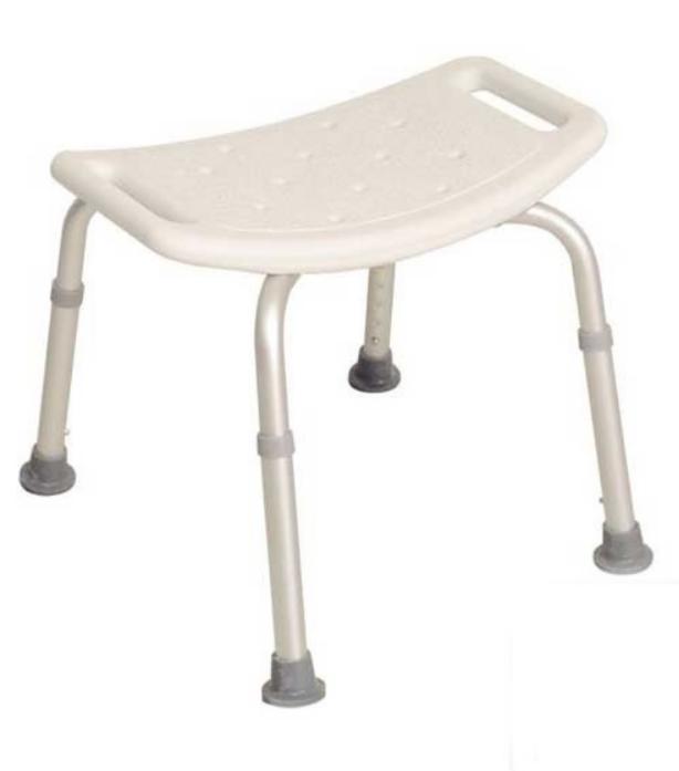 Прокат медицинских товаров Мега-Оптим Стульчик KJT502 без спинки для ванной комнаты - фото 1