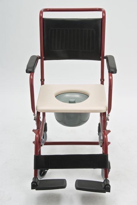 Прокат медицинских товаров Мега-Оптим Кресло-каталка с санитарным оснащением FS692 - фото 2