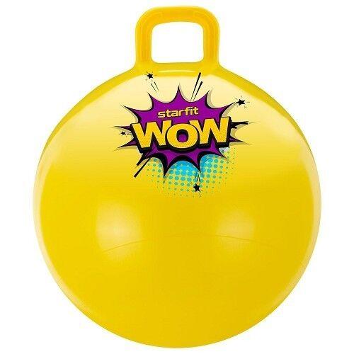 Starfit Мяч-попрыгун  Wow 55 см с ручкой GB-0402 yellow - фото 1
