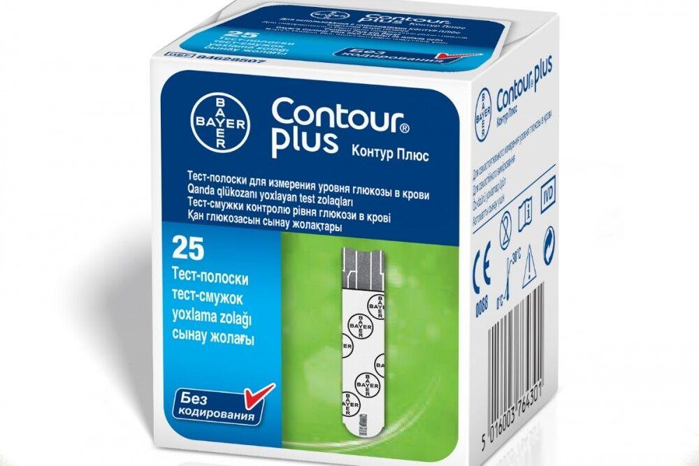 Глюкометр Bayer AG Тест-полоски к Contour Plus, 25 шт - фото 1