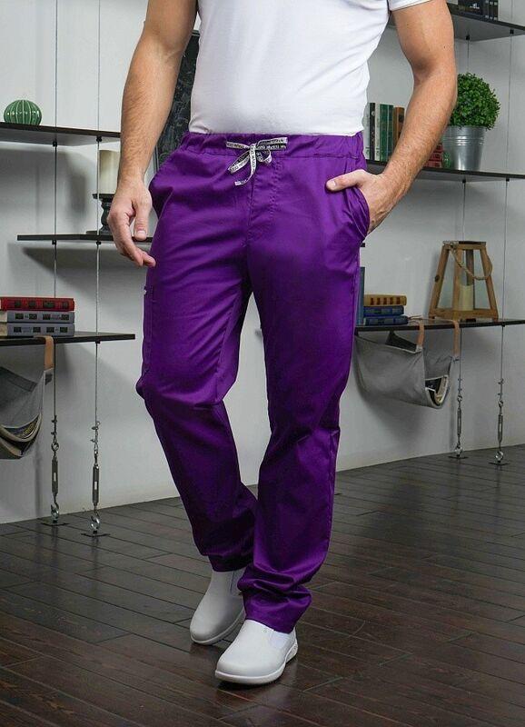 Доктор Стиль Медицинские брюки «Софт М» фиолетовые Брю 3410.15 - фото 5