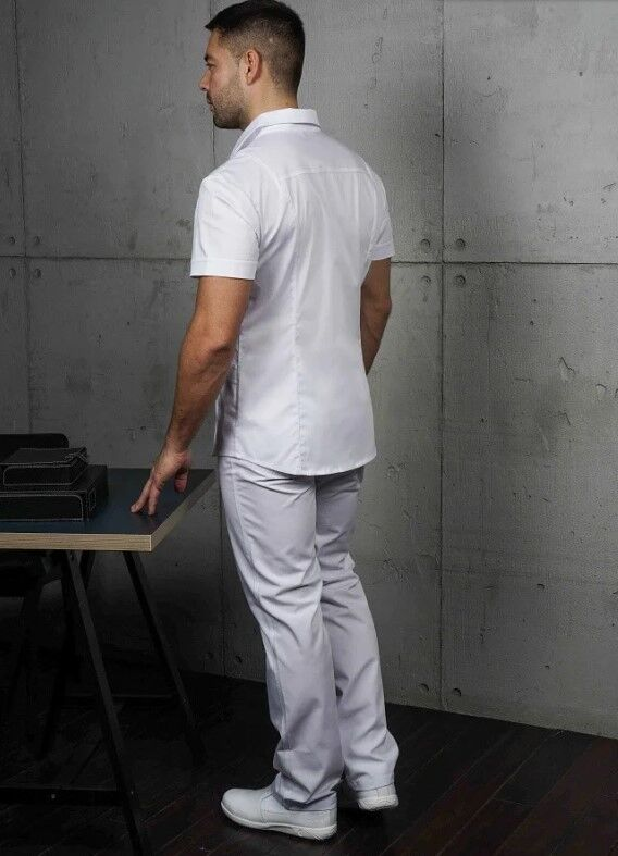 Доктор Стиль Медицинская блуза «Терапи» белая ЛС 3217.01 - фото 2