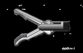 Медицинское оборудование ППП Зажим анатомический (полуволна) с кремальерой Л-0033 - фото 1