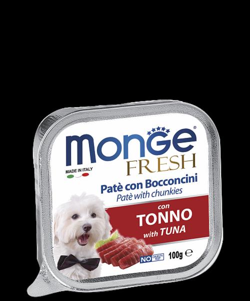 Monge Dog Fresh Tuna Pate 100гр.х 16 шт. - фото 1