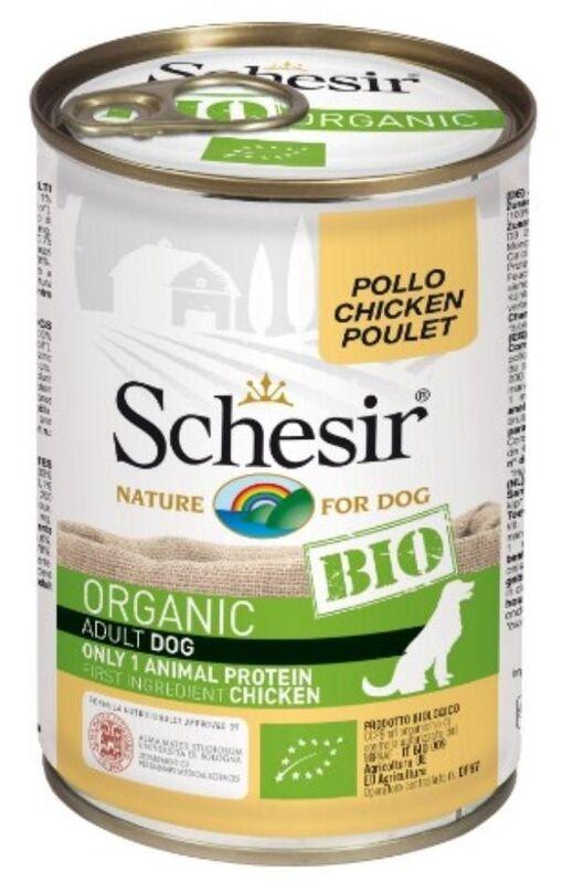 Schesir Bio Консервы для собак (курица), 400 г - фото 1