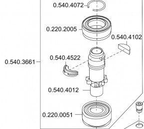 Стоматологическое оборудование KaVo Dental Германия Ротор для наконечника углового 68 LH - фото 1