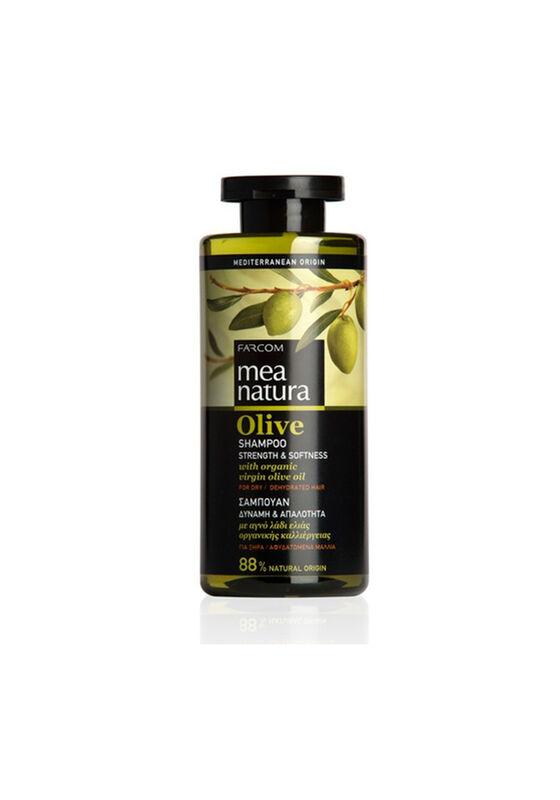 Farcom Шампунь Mea Natura Olive с оливковым маслом для сухих и обезвоженных волос 300 мл - фото 1