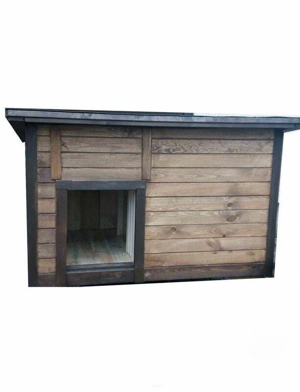 Весь дом Будка для собак классическая с откидной крышей и утеплением 115х75х80 см - фото 1