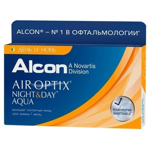 Контактные линзы Air Optix (Alcon) Night & Day Aqua (3 линзы) - фото 1