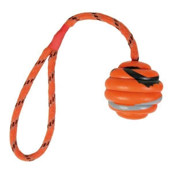 Trixie Игрушка «Каучуковый мячик на веревке» - фото 1
