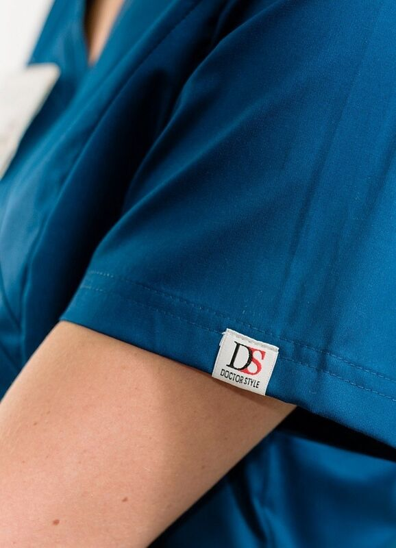 Доктор Стиль Медицинская блуза «Терра» блю опал ЛC 3229.48 - фото 3