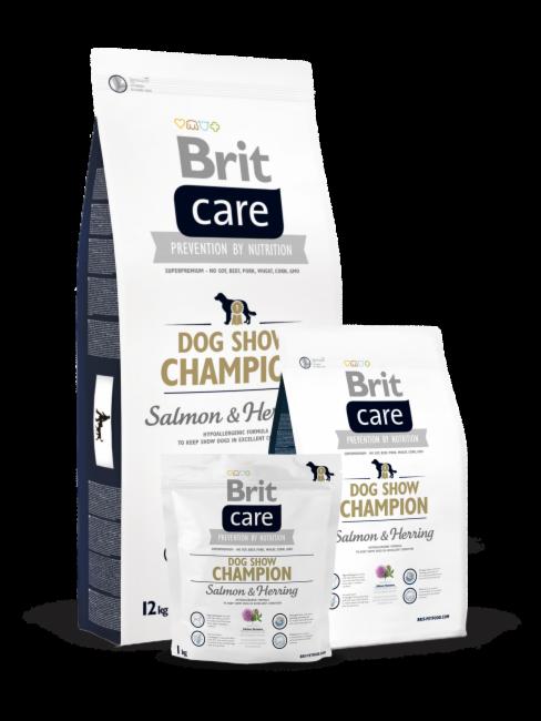Brit Dog Show Champion, лосось, сельдь, рис, 12 кг. - фото 1