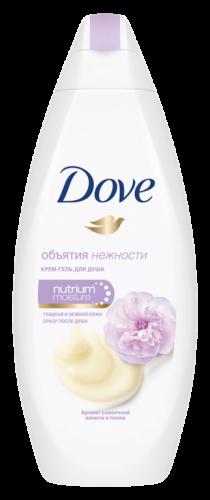 Dove Крем-гель для душа «Сливочная ваниль и пион», 250 мл - фото 1