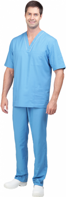Спецобъединие Костюм мужской Хирург голубой, зеленый(кос701,704) - фото 1