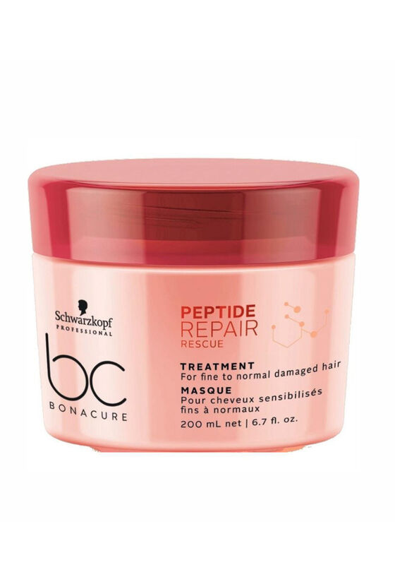 Schwarzkopf Professional Маска для волос Peptide Repair Rescue (TREATMENT For fine to normal damaged hair), 200 мл - фото 1