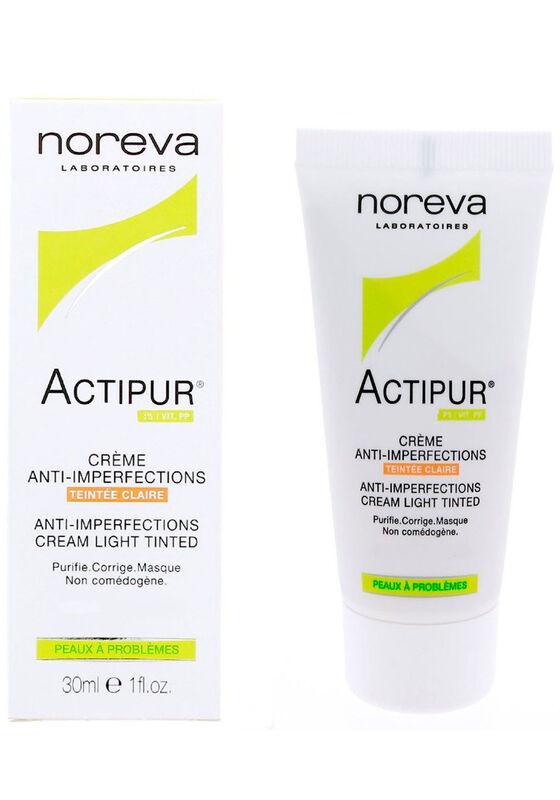 Noreva Крем Актипур тонирующий для проблемной кожи, светлый оттенок 30 мл - фото 1