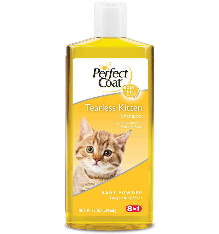 8 in 1 Шампунь для котят PC Tearless Kitten без слез с ароматом детской присыпки - фото 1